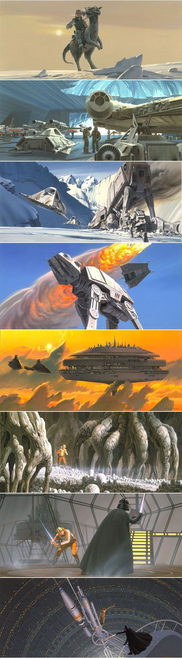 Ralph McQuarrie - Star Wars Episode V Production Paintings
