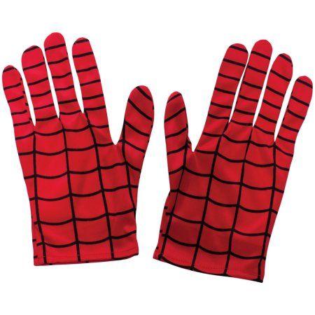 Adult's Marvel Comics Universe Spiderman Gloves Costume Accessory, Adult Unisex, Red