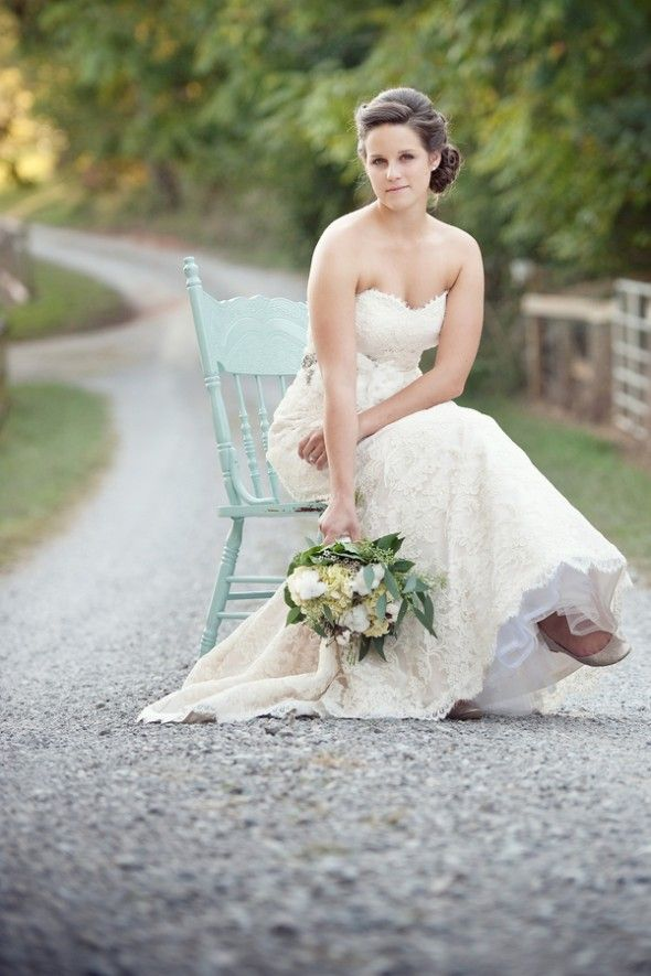 Country road? Check. Beautiful Bride? Check. Using my favorite aqua color? Check Check Check