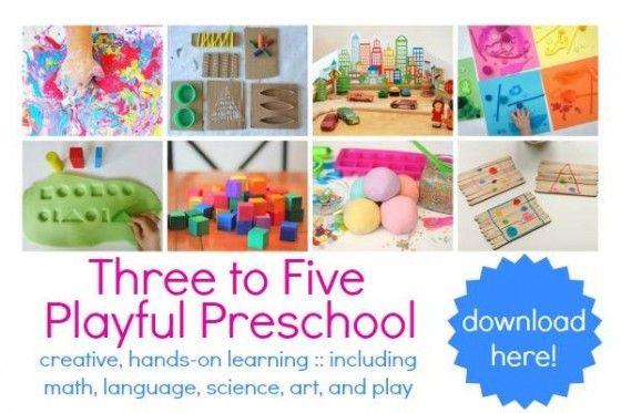 3-5 Playful Preschool 3-book