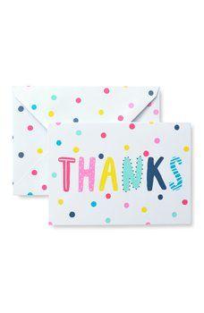 Gartner Studios Polka Dot Thank You Cards Set Of 15 Multi