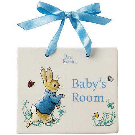 Buy Beatrix Potter Peter Rabbit Baby's Room Door Plaque Online at johnlewis.com