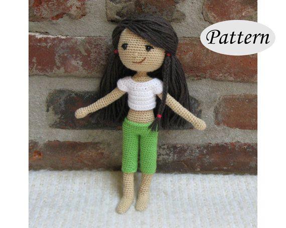 PATTERN  Summer Girl Doll  Amigurumi  Crochet by CrochetCuteDolls