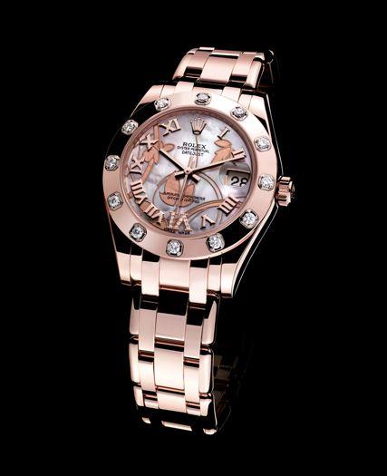 Rose gold Rolex watch