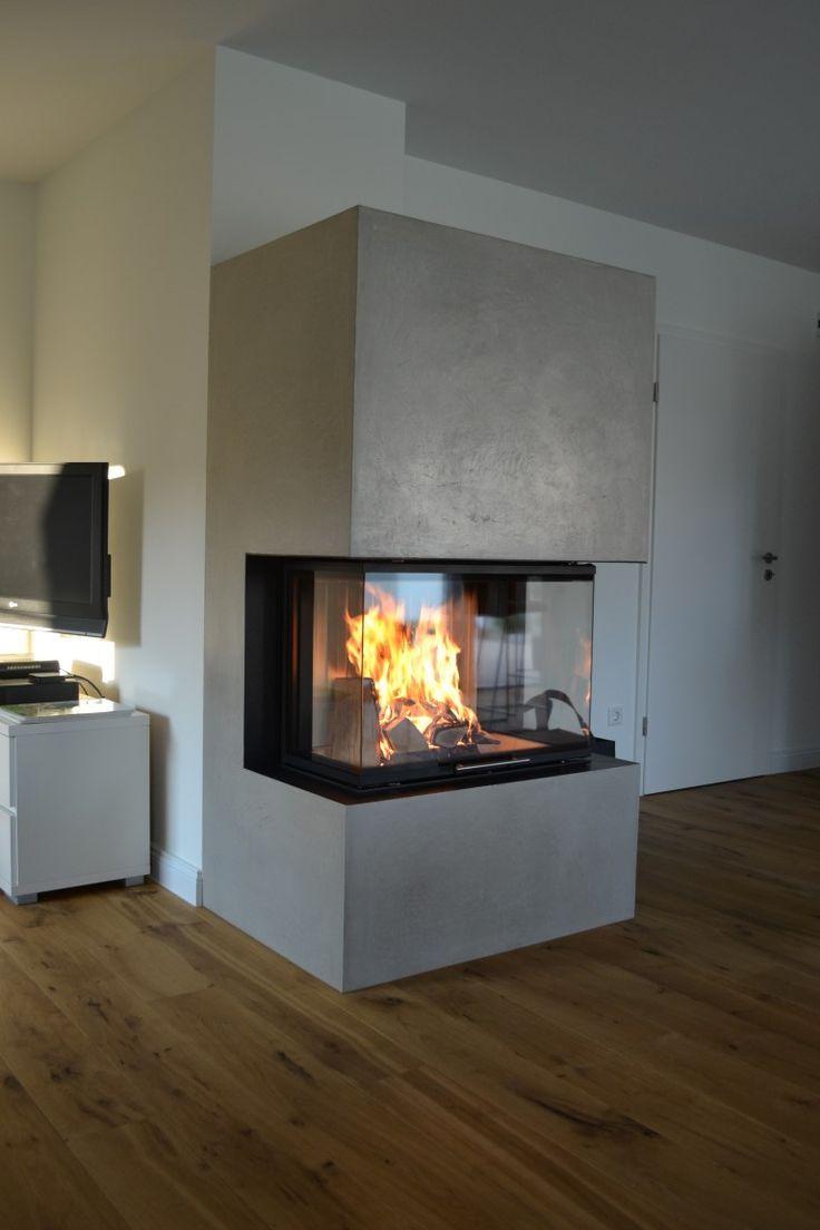 Fireplace Edelputz Steinart Handmade Calcare Edelputz Kaminbau Kamin Wohnzimmer