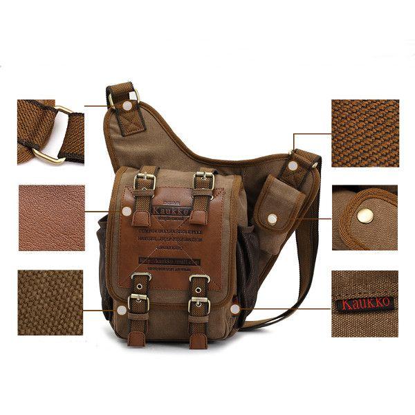 2015 Divat Retro Veterán Vászon táska Men Messenger Állítható váll ferde kereszt Body csomag táskák Utazási túrázás 1db / sok-ben válltáskák származó csomagok és táskák a Aliexpress.com | Alibaba Group