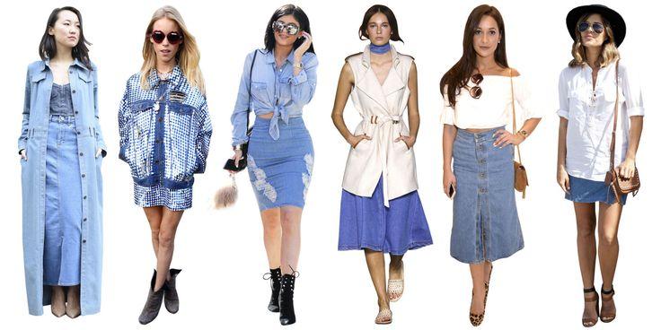 4 Fresh Ways To Wear a Denim Skirt