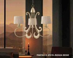 Lámparas de Techo : Colección MARIANN cuero 3 luces