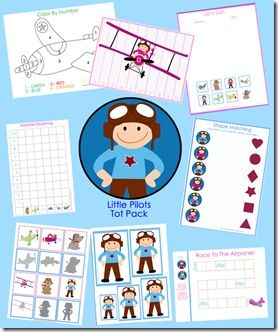 little pilot tot pack free printable