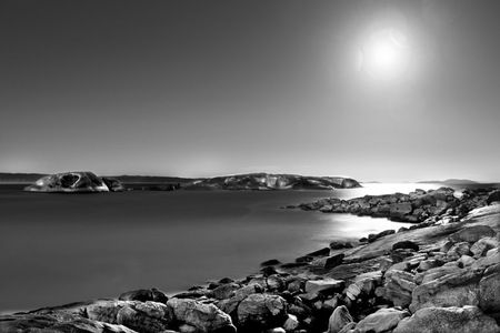 Interior Design and Home Decoration Artwork from Art Australia - buy this original signed print in 3 sizes.  Bay of Moons by David Rennie (Limited Edition # 1 of 1) available via http://www.art-australia.com/bay-of-moons-by-david-rennie-limited-edition-1-of-1/