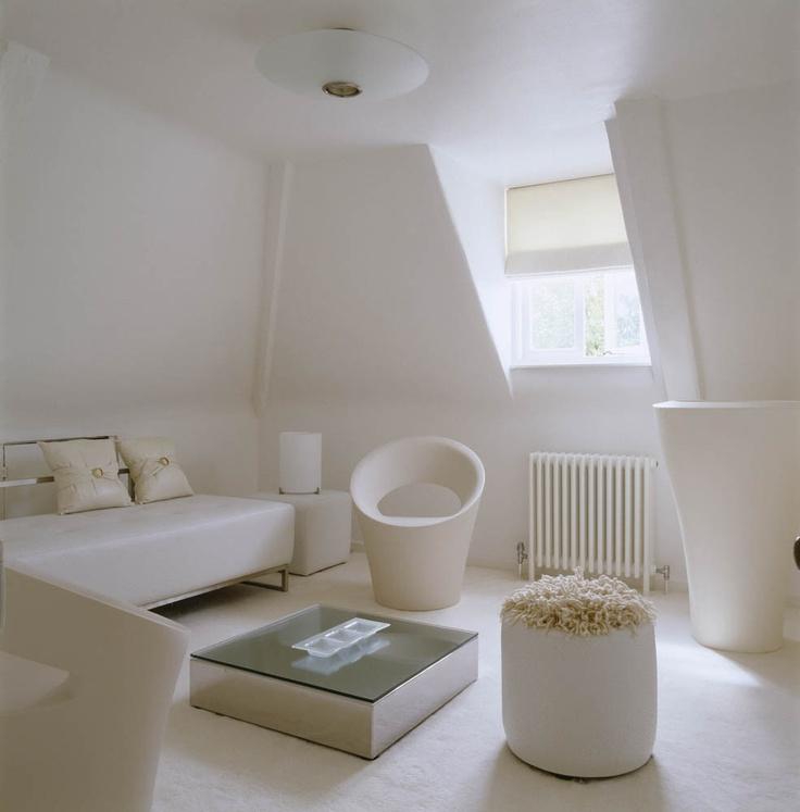 White Attic Room. Design by Oliver Burns.