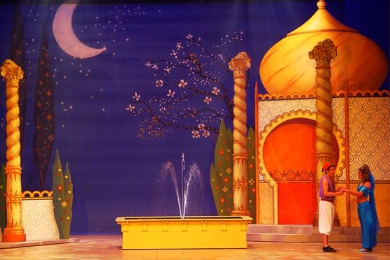 Aladdin SP1 stage & set scenery, Scenic Projects