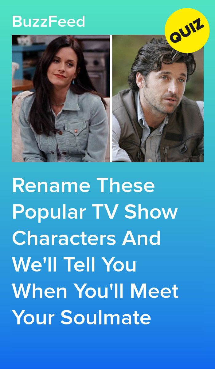Rename These Iconic TV Show Characters And We'll Tell You