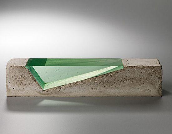 25 best images about concrete art on pinterest concrete walls concrete lamp and portland cement - Glass art by artis ...