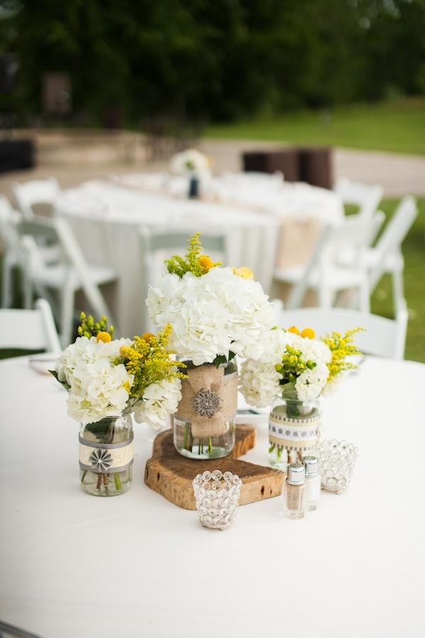 Dressy Mason Jars Vintage Rustic Wedding