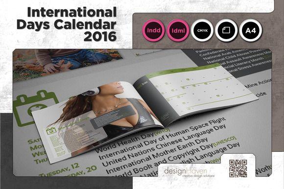 International Days Calendar 2016 by Spyros Thalassinos on Creative Market