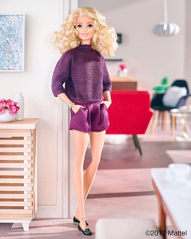 Pairing my plum pieces with the purr-fect flat!  #barbie #barbiestyle