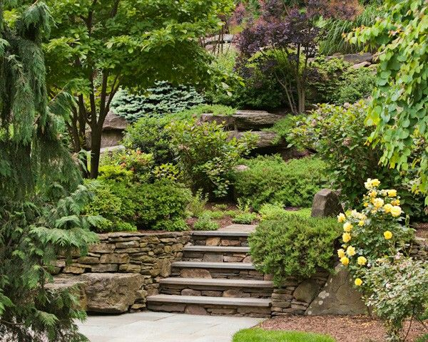 17 best ideas about hillside garden on pinterest for Hillside rock garden designs