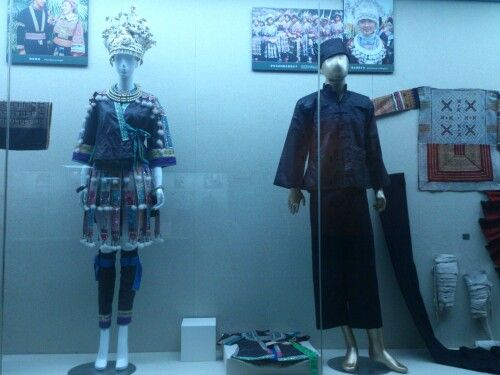 China museum. Man and women wardrobe