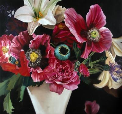 Pamela Wolfe's poppies in a vase