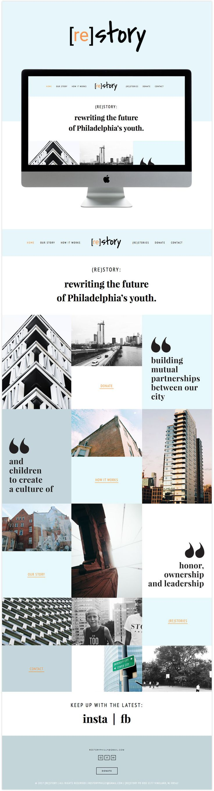 re story website design