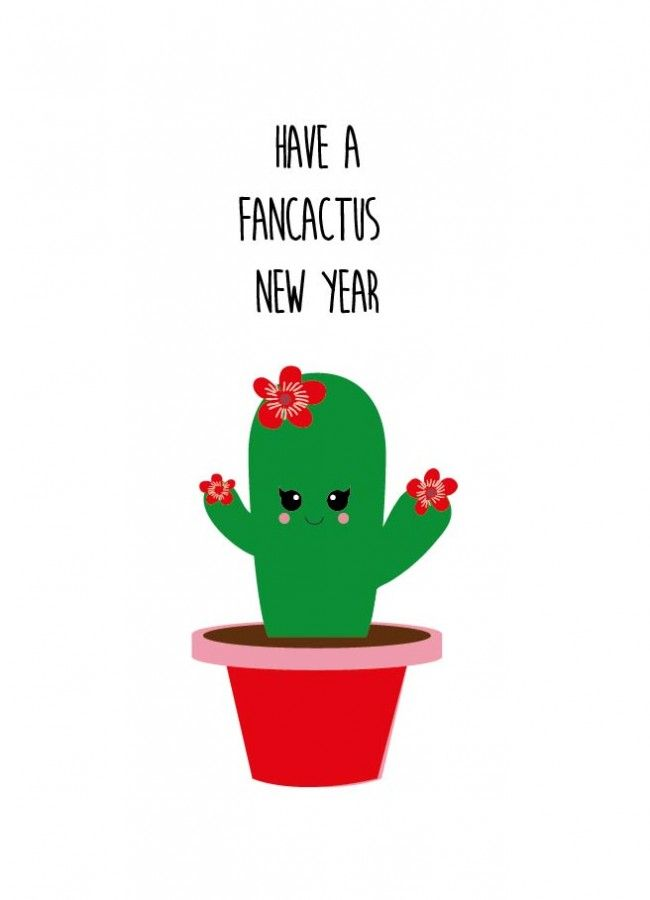 POSTKAART HAVE A FANCACTUS NEW YEAR Have a fancactus new year cactus kerstkaart is geschikt voor iedereen die van kerst houdt en van een grapje in de tekst.