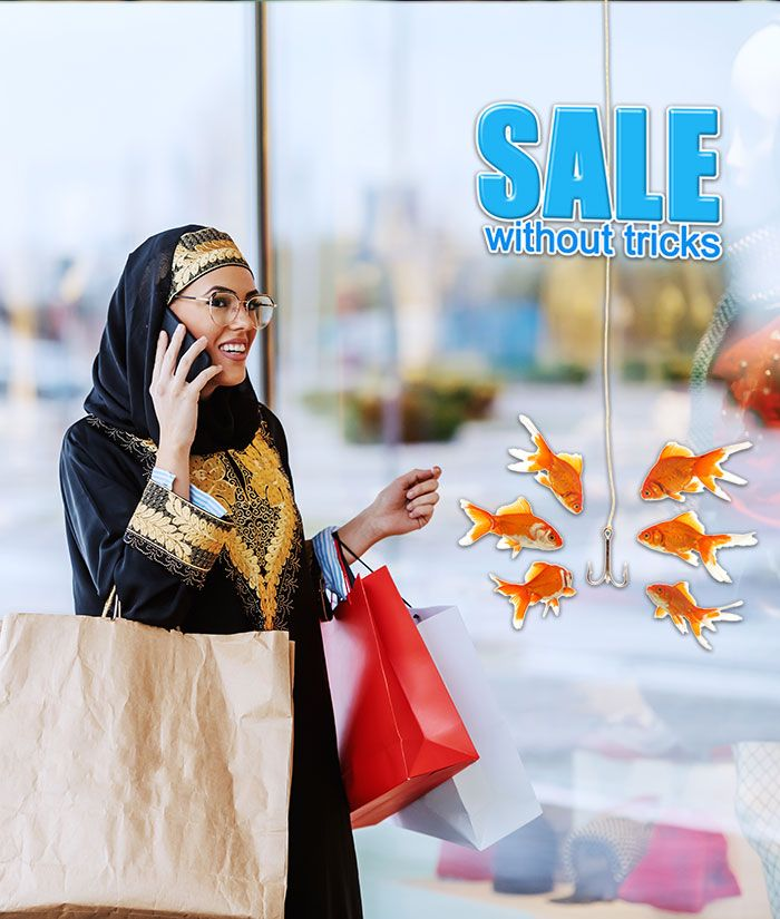 Sales Without A Catch Sign With Gold Fish In 2020 Window