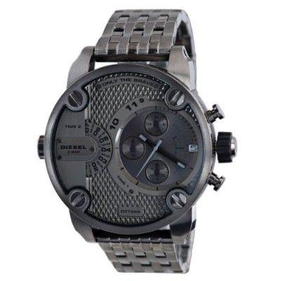 Relógio Diesel Men's DZ7263 Silver Stainless-Steel Quartz Watch with Silver Dial #relogio #Diesel