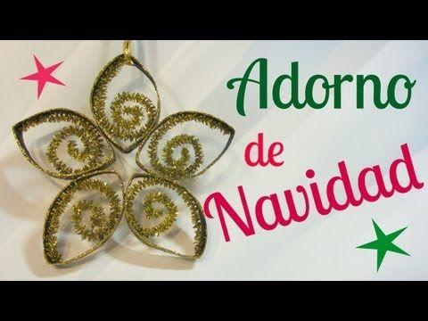 Cómo hacer adornos de Navidad de papel. Christmas ornament. - YouTube