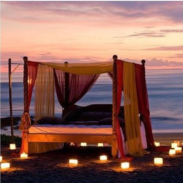 Good night  #travel #beach #romantic #dinner #candlelight by interiorbyraaet
