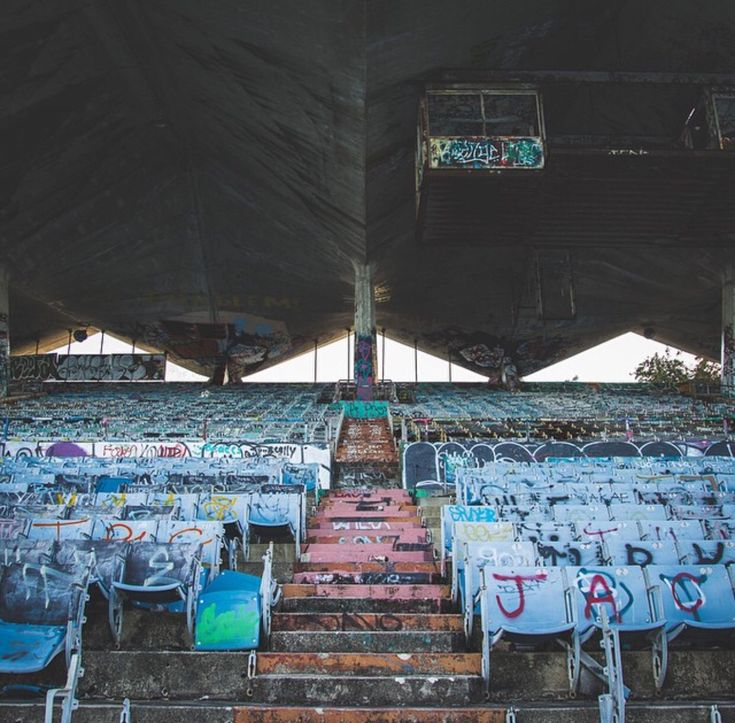 "Detroit stadium abandoned, The ""Pontiac Silverdome, set to be demolished in the Spring of 2016."
