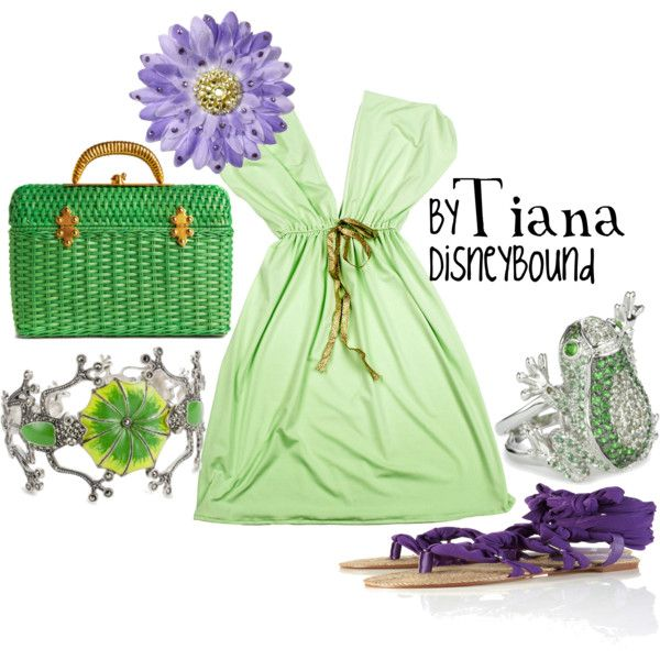 """Tiana"" by lalakay on Polyvore; I really love the frog jewelry"