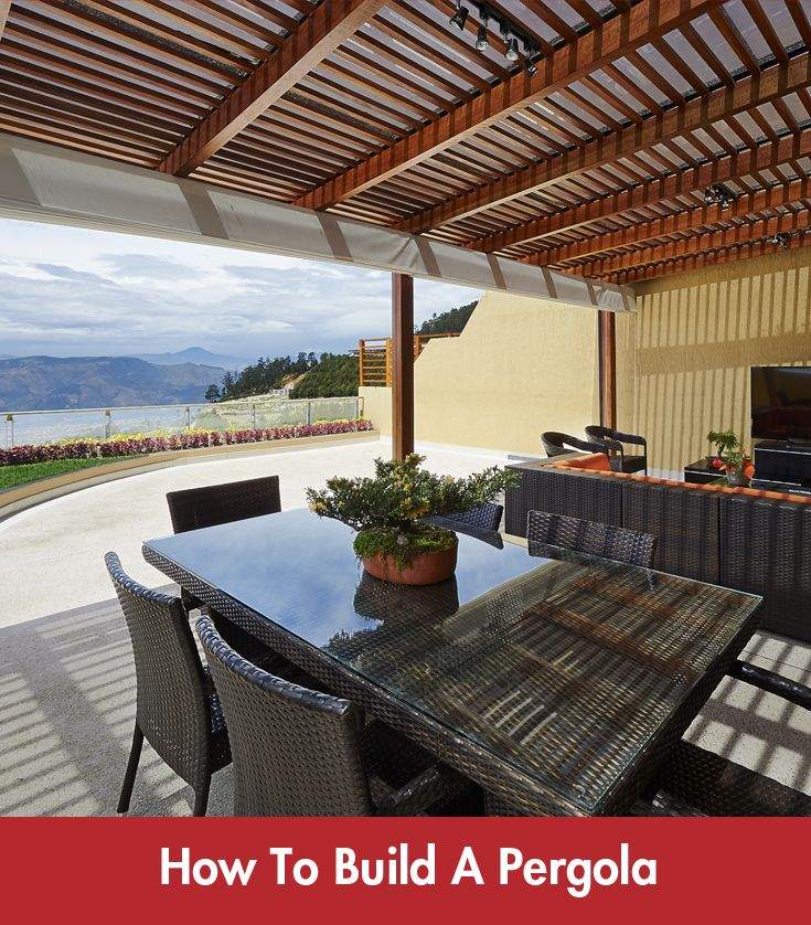 Building a #pergola may be one of the most affordable and effective way of extending the living area in your home. #Summer #DIY