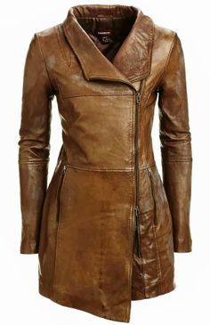 Steampunk Cowgirl Leather Coat