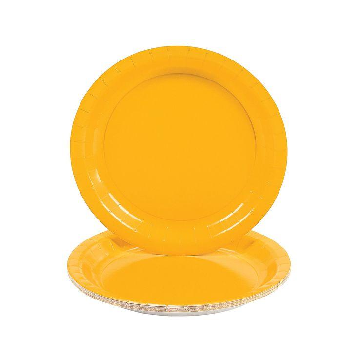 Schoolbus+Yellow+Dinner+Plates+-+OrientalTrading.com