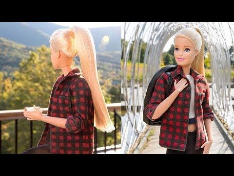 Hair Tutorial for Barbie Doll DIY Barbie Hairstyles Barbie Hair Transformation - YouTube