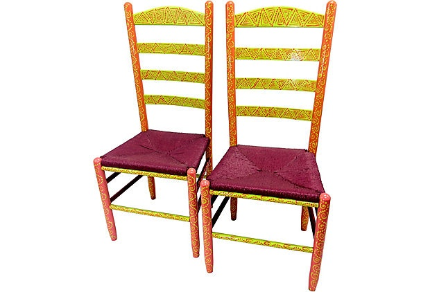 Painted Ladder Back Chairs, Pair on OneKingsLane.com