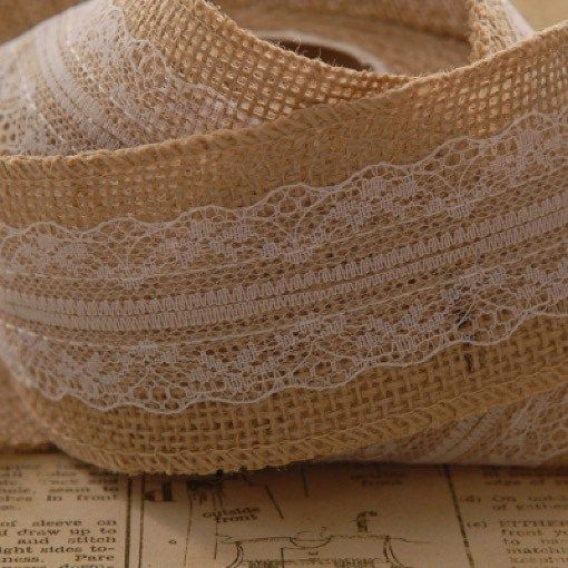 Hessian-With-Lace-Ribbon