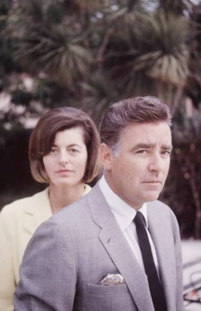 Mr. Peter Lawford with his wife Mrs. Patricia Kennedy Lawford .