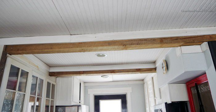How To Sand Down And Refinish Beams Throughout The Home Diy In