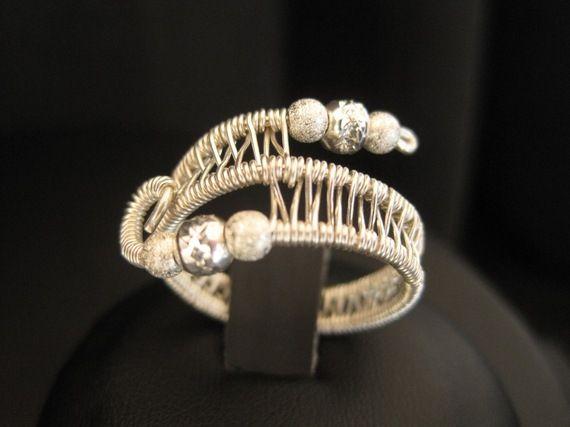 anello tecnica wire in filo di argento