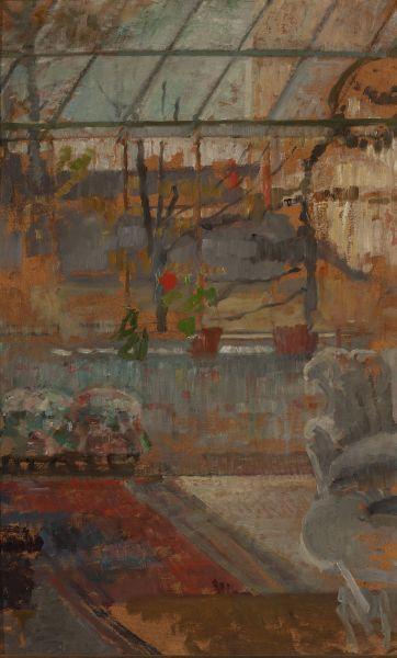 Wnętrze pracowni - Olga Boznańska