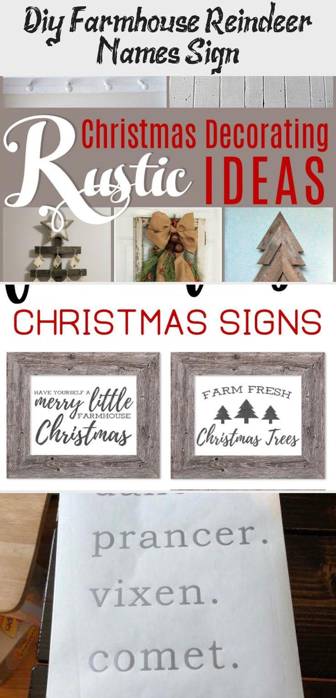 DIY Farmhouse Reindeer Names Sign Reindeer Names SVG