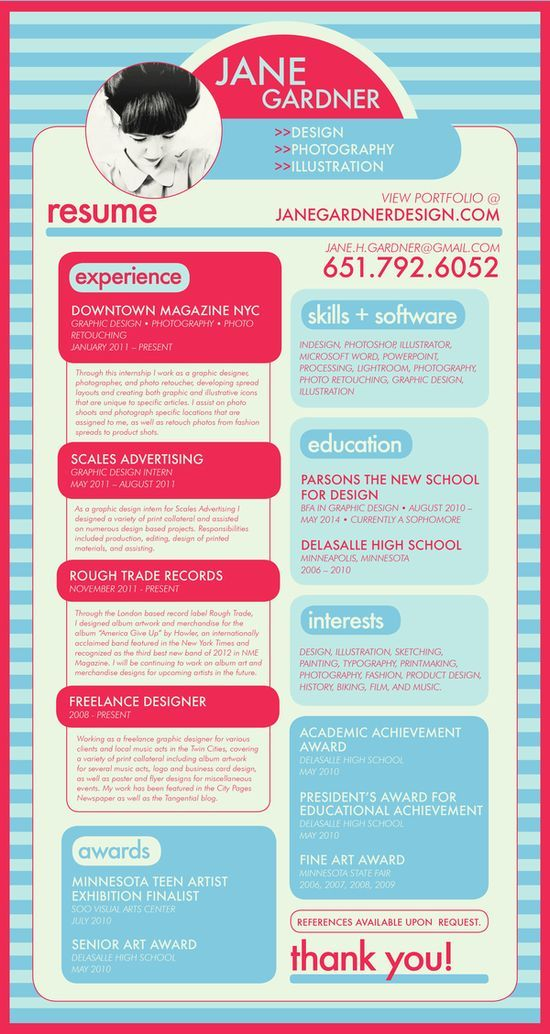 66 best Creative CVu0027s images on Pinterest Resume design - visual resume examples