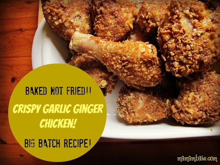 Crispy Garlic Ginger Chicken! Big Batch! mamabake