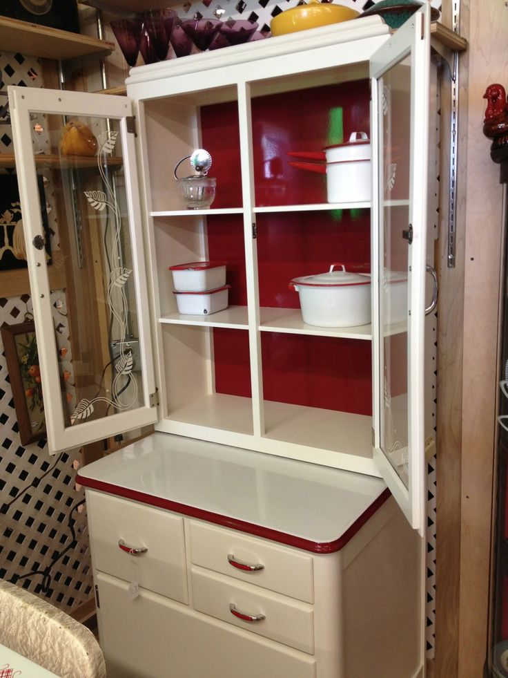 Charming Red And White Kitchen Cabinet Old Kitchen Cabinets In Mighty Fine  Condition Are Seeing Outrageous Jumps In Prices In Some Par. Part 98