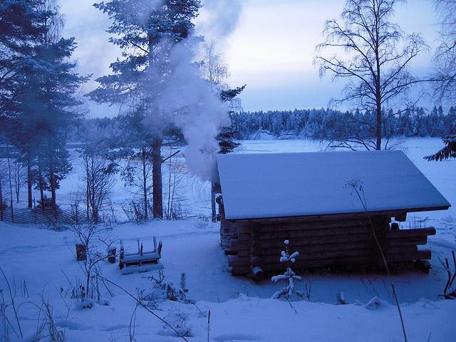 Sauna and winter