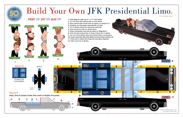 Make Your Own Paper JFK Presidential Limo