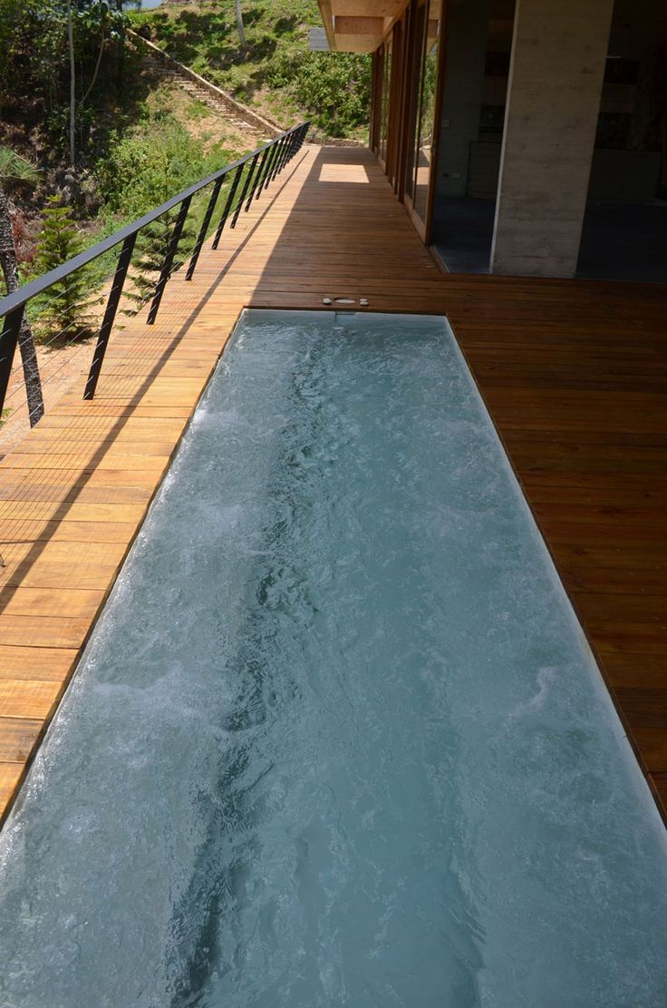 Terrace and water pool