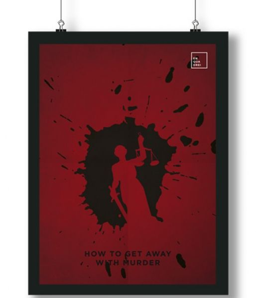 Pôster/Quadro minimalista How to Get Away With Murder